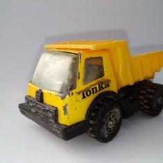 Macheta TONKA - AUTOBASCULANTA, fabricata in Hong Kong, anii '70( II) - Macheta auto