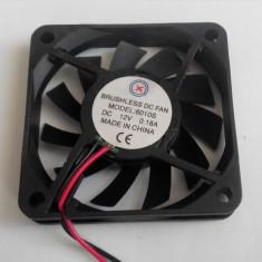 Ventilator 60x60x10 mm , 12 v