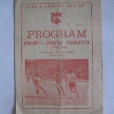 PROGRAM MECI DINAMO-SP.STUDENTESC DIN 7 IUNIE 1981