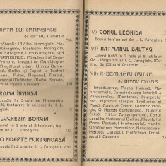 Caragiale - Teatru ( editie critica de O. Minar ) - vol. I - 1924 - Carte veche