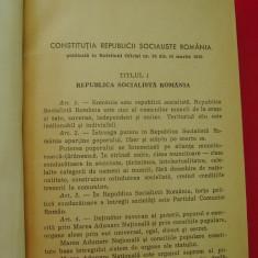 CONSTITUTIA REPUBLICII SOCIALISTE ROMANIA PUBLICATA IN BULETINUL OFICIAL  NR 34 DIN  16 MARTIE 1969 ., Alta editura