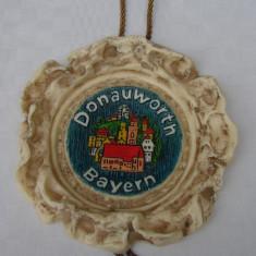 Decoratiune din ceara inscriptionata Donauworth Bayern - Sculptura, Altul