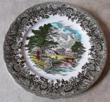 Farfurie - decorativa / de colectie - portelan Englezesc - Grindley  - Country Style