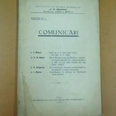 Comunicari ale institutului de istoria romanilor A. D. Xenopol Iasi 1941 - Carte veche