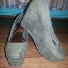 Mocazie! Pantofi h&m noi - Sandale dama H&m, Culoare: Khaki, Marime: 39