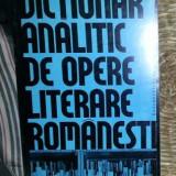 Ion Pop DICTIONAR ANALITIC DE OPERE LITERARE ROMANESTI Ed. Did. si Pedag. 1998 vol. I A-D - Istorie