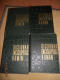 DICTIONAR ENCICLOPEDIC ROMAN 4 VOLUME  COLECTIA 1962-1966