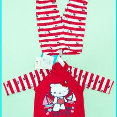 NOU → Costum baie 2 piese, protectie solara, TU → fetite | 9-12 luni | 74-80 cm, Marime: Alta, Culoare: Rosu, Fete