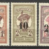 EROARE--SERIE COLONII---MARTINIQUE SUPRATIPAR 1920 +++MNH+++, Nestampilat