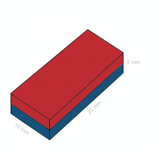 magnet puternic din neodim 20x10x02mm sisteme prindere maronicarie incuietoare