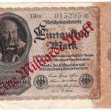 Germania bancnota 1000 mark 1922 a.UNC suprastampila 1.000.000.000 marci EINE MILIARDE cu stea dupa serie