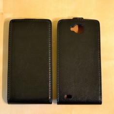 Husa Flip Case Inchidere Magnetica ALLVIEW P5 QUAD Black + FOLIE - Husa Telefon Accessorize, Negru