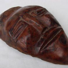 Masca veche sculptata in lemn de esenta exotica - Sculptura