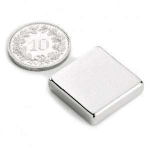 Magnet puternic neodim 20x20x05mm cu 6 Kg Forta  inginerie, eoliene N52