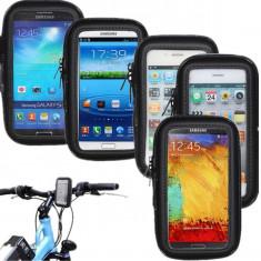 Suport bicicleta sau moto impermeabil Samsung Galaxy S3 Mini i8190 + folie