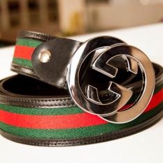 GUCCI Curea Piele Naturala Autentica Made in Italy Accesoriu Lux - Curea Dama Gucci, Marime universala, Din imagine