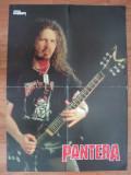 Poster PANTERA ( DIMEBAG DARRELL)fata / VAN HALEN spate - METAL HAMMER, dimensiuni 56/41cm, stare foarte buna