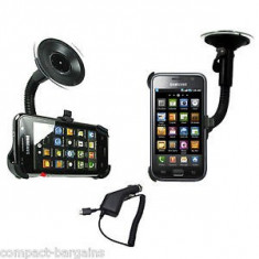 Suport auto Samsung Galaxy S i9000 + incarcator auto + folie protectie ecran + expediere gratuita