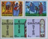 GHANA 1971 - CRACIUN,PASTE  5 VALORI, NEOBLITERATE - E1945