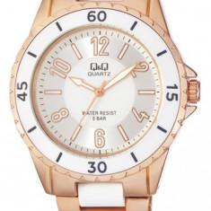 Ceas Q&Q de dama cod F461-014Y - pret vanzare 139 lei; NOU; ORIGINAL; ceasul este insotit de garantie de 24 luni. - Ceas dama Q&Q, Fashion, Quartz, Inox, Analog