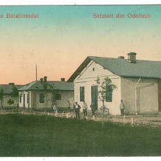 683 - Vrancea, ODOBESTI, Cazarma Batalionului - old postcard - unused - Carte Postala Moldova 1904-1918, Necirculata, Printata