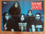 poster NAPALM DEATH  - METAL HAMMER , dimensiuni 56/41 cm, stare buna