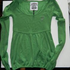 Bluza, pulover subtirel, tip baby doll, marca LeeCooper, marimea XS-S - Pulover dama Lee Cooper, Culoare: Verde