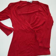 Bluzita/bluza de dama/femei, marimea XS/S, visinie, marca OZONE - Bluza dama, Marime: 34, Culoare: Visiniu, Maneca lunga