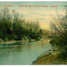 590 - Galati, NEGRILESTI, Parcul Doamnei Jurgea - old postcard - used - 1913 - Carte Postala Moldova 1904-1918, Circulata, Printata