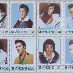 ST.VINCENT - ELVIS 8 VALORI, NEOBLITERATE - E1948