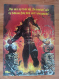 poster MANOWAR - LOUDER THAN HELL fata- ANCIENT spate - METAL HAMMER , dimensiuni 56/41 cm, stare buna