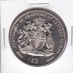 Bnk mnd british antarctic territory 2 pounds 2008 unc