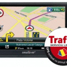 GPS Smailo HDx 5.0 Travel TraficOK Europa, 5 inch, Toata Europa, Redare audio: 1, 1 TMC, Touch-screen display: 1