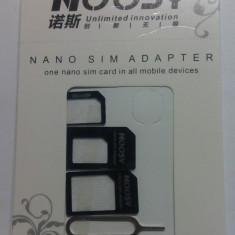 Set adaptor Nano SIM to Micro SIM / Nano SIM to SIM normal / Micro SIM to SIM normal (pentru Note 2, iphone 4 4S 5
