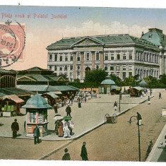 523 - Dolj, CRAIOVA, New Market - old postcard - used - TCV - 1912 - Carte Postala Oltenia 1904-1918, Circulata, Printata