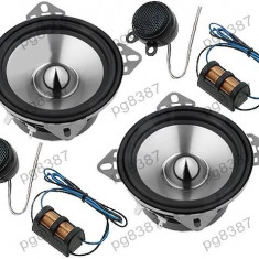 Set 2 difuzoare auto (woofer), 2 tweetere, 2 filtre cu o cale, 70W, Phonocar TD Line 2/851- 000941