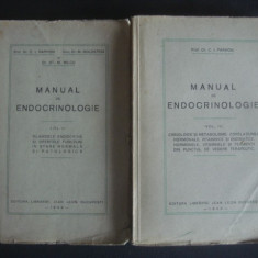 C. I. PARHON * M. GOLDSTEIN * ST. M. MILCU - MANUAL DE ENDOCRINOLOGIE volumul 2 si 3 {1939-1940}