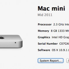 Mac Mini Apple, Mid 2011, 2.3 GHZ I5, 128 GB SSD KINGSTONE, 8GB RAM DDR3, Intel Core i5