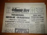 Romania libera 24 ianuarie 1973- ceausescu la,semanatoarea ,electromagnetica