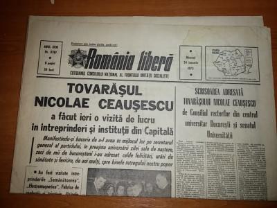 romania libera 24 ianuarie 1973- ceausescu la,semanatoarea ,electromagnetica foto