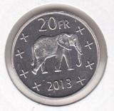 Bnk mnd Katanga 20 franci 2013 unc , fauna