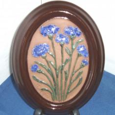 Tablou (Aplica) relief, ceramica, hand made - semnat Ingegard, Gabriel Suedia - Arta Ceramica