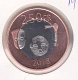 Bnk mnd Katanga 250 franci 2013 unc , bimetal