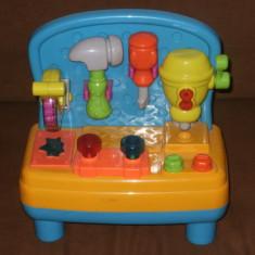Banc de lucru cu unelte de jucarie, Plastic, Unisex