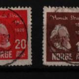 1928 norvegia mi. 137-140 stampilate