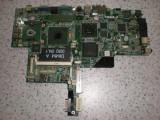 Placa de baza laptop DELL LATIDUDE D810 cu defect , vede imaginea in dungi , intacta, DDR2, Contine procesor