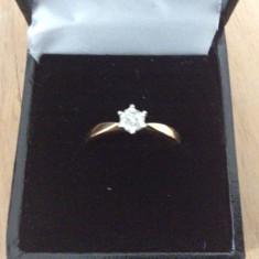 Inel aur 18ct cu diamant - Inel diamant