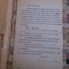 Act / Proces verbal de despartire/divort din perioada Regalitatii 1937 / RAR - Pasaport/Document, Romania 1900 - 1950