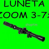 LUNETA airsoft BOSILE 3-7x20 cu ZOOM pt arma, pusca cu aer comprimat - Luneta vanatoare