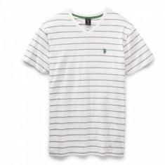 Tricou U.S. Polo Assn - Barbati - 100% Original - Tricou barbati US Polo Assn, Marime: S, Culoare: Alb, Maneca scurta, Bumbac